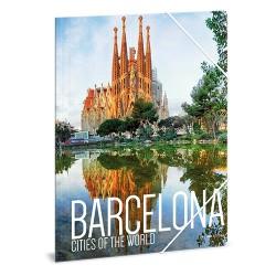 Gumis mappa karton Ars Una A/4 Barcelona (856) 18