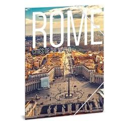 Gumis mappa karton Ars Una A/4 Rome (862) 18