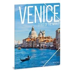 Gumis mappa karton Ars Una A/4 Venice (863) 18