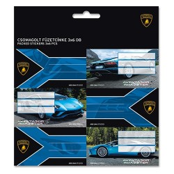 Füzetcímke Ars Una 3x6db/csomag Lamborghini (835) 18