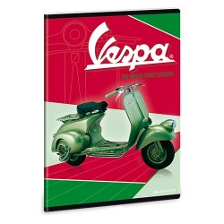 Füzet Ars Una kisalakú extra kapcsos 40 lapos sima Vespa Green (879) 18