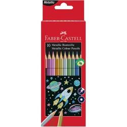 Színes ceruza Faber-Castell 10 db-os klt. metál színek
