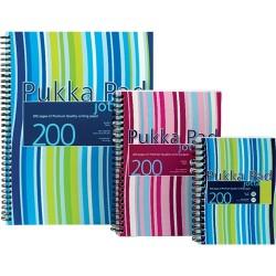 Spirálfüzet A/4 Pukka Pad 200 oldalas vonalas,színes csíkos JP018(3/4)