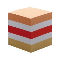 Kockatömb 8,5x8,5x8,5 cm 900 lapos ragasztott színes