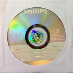 DVD-R Philips 4.7 GB írható papír tokos