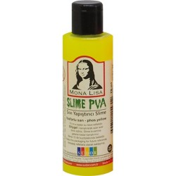 Kreatív ragasztó Mona Lisa Slime 70 ml, neon sárga