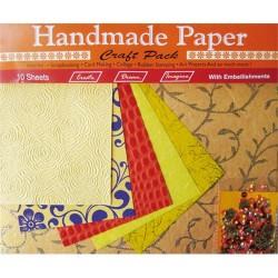 Kreatív papír Cre Art 10ív/csom narancssárga