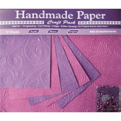 Kreatív papír Cre Art 10ív/csom lila, virág