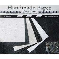 Kreatív papír Cre Art 10ív/csom fekete