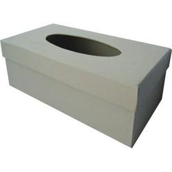 Kreatív zsebkendőtartó papírdoboz 25 x 13 x 9 cm natúr
