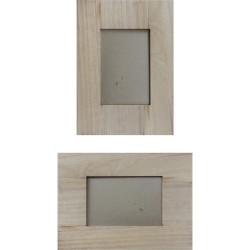 Kreatív fa üveges képkeret 25 x 18 x 1,2 cm, 10 x 15 cm-es képnek