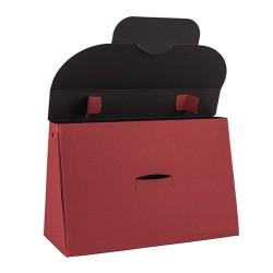 Kreatív táska Buntbox L füles bordó