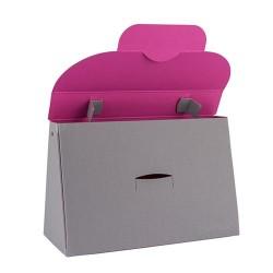 Kreatív táska Buntbox L füles szürke