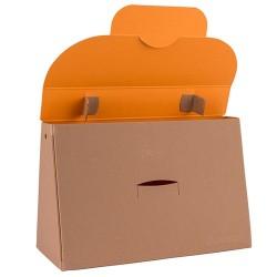 Kreatív táska Buntbox L füles barna