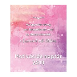 Naptár fali PD 20x24 cm Motivációs naptár 2019