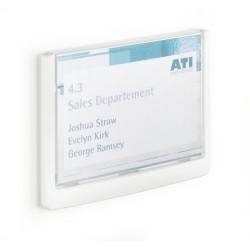 Információs tábla Durable Click Sign 14.9x10,55 cm szürke