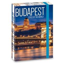 Füzetbox Ars Una A/4 45 mm gerinccel Budapest ( 857 ) 18