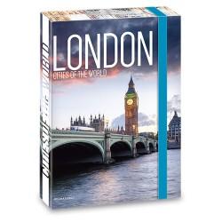 Füzetbox Ars Una A/4 45 mm gerinccel London ( 859 ) 18