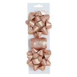 Masni szett glitteres rosegold 2 db masni+kötöző 10 m-es/csomag
