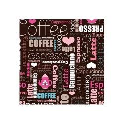 Szalvéta 33 x 33 cm 3 rétegű Art coffee