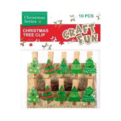 Karácsonyi CF fa csipesz fenyőfa 10 db/csomag