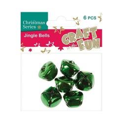 Karácsonyi CF csengő zöld 6 db/csomag