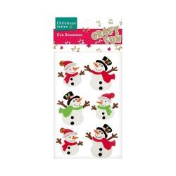 Karácsonyi habszivacs CF hóember 6 db/csomag