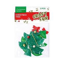Karácsonyi műanyag CF fenyőfa 2 db/csomag