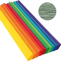 Krepp-papír 200x50 cm gyöngyház zöld