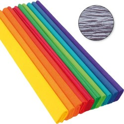 Krepp-papír 200x50 cm gyöngyház lila