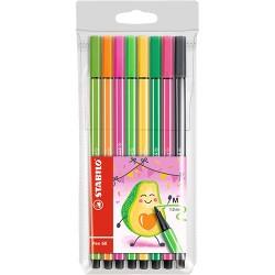 Rostirón Stabilo Pen 68 Living Colors avokádó színkollekció 8 db-os szett