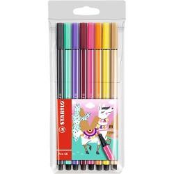 Rostirón Stabilo Pen 68 Living Colors Láma színkollekció 8 db-os szett