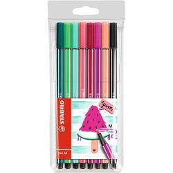 Rostirón Stabilo Pen 68 Living Colors Görögdinnye színkollekció 8 db-os szett