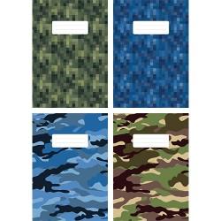 Füzet pd kisalakú 27-32 kockás Camouflage vegyes