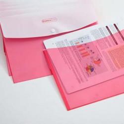 Irattartó tasak Comix A/4 patentos 2 részes piros A1827