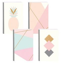 Füzet Clairefontaine Mikado Lines 9x14 cm 72 lapos, vonalas, puha fedeles, textil gerinccel vegyes
