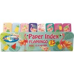 Oldaljelölő papír Centrum Flamingo 50x15 mm