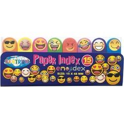 Oldaljelölő műanyag Centrum Emojidex 50x15 mm 8x15 lapos neon színek