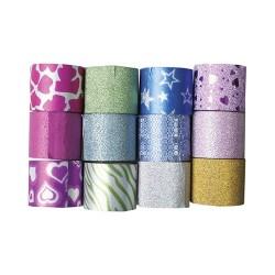 Kreatív dekorszalag Centrum 30 mm x 3 m öntapadós, glitteres, vegyes