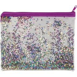 Tolltartó Centrum 22x17 cm glitteres átlátszó