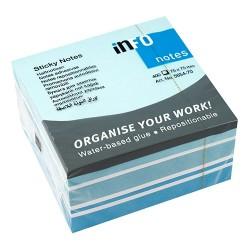 Öntapadós jegyzettömb Info Notes Mix 75x75 mm 400 lapos kék-fehér