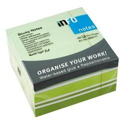 Öntapadós jegyzettömb Info Notes Mix 75x75 mm 400 lapos zöld-fehér