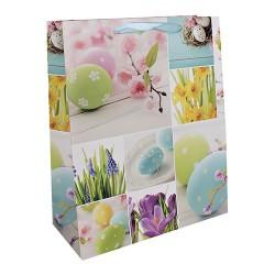 Dísztasak húsvéti 26 x 32 cm nárcisz+ tojások