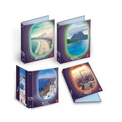 Gyűrűs könyv Pigna Hello Travel A/4 4 gyűrűs 30 mm gerinccel