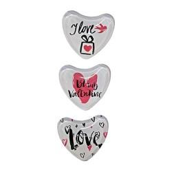 Hűtőmágnes 5 cm szív alakú / 3 féle (üveg)