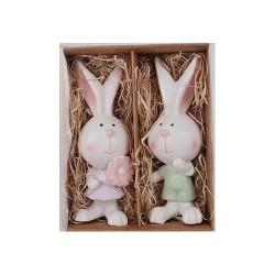 Húsvéti nyúl álló fiú/lány 6,9 cm 2 db/doboz ( polirezin )