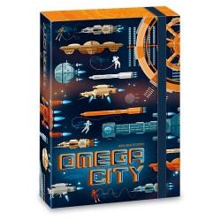 Füzetbox Ars Una A/5 40 mm-es gerinccel Omega City (908) 19