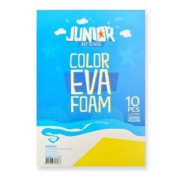 Kreatív Junior dekor gumilap A/4, sárga 10 db/csomag