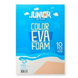 Kreatív Junior dekor gumilap A/4, krémszínű, 10 db/csomag