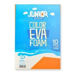 Kreatív Junior dekor gumilap A/4, naracssárga, 10 db/csomag